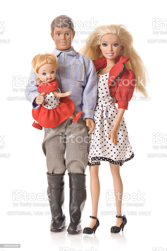 Barbie and family stock photo