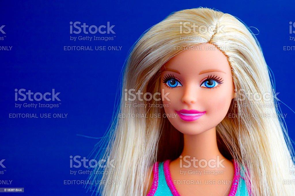 Barbie doll portrait stock photo