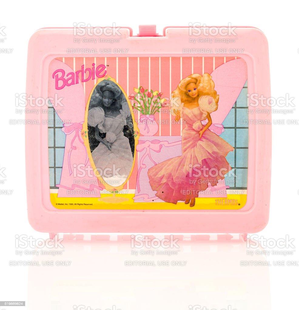 Barbie Lunch Box stock photo