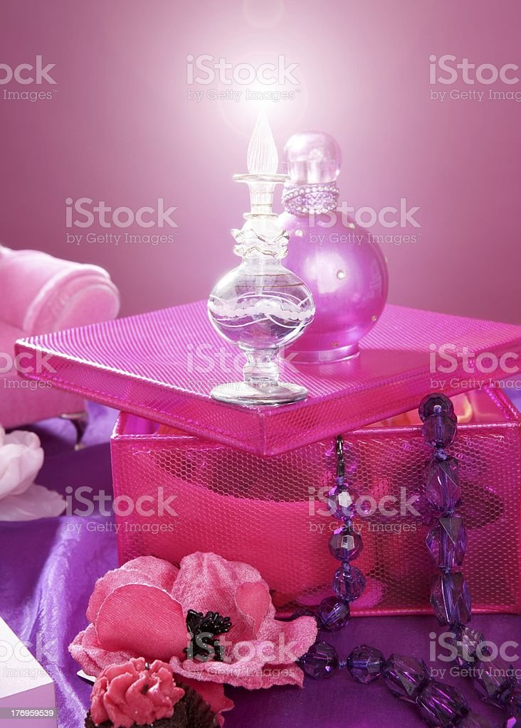 barbie style fashion makeup vanity dressing table royalty-free stock photo
