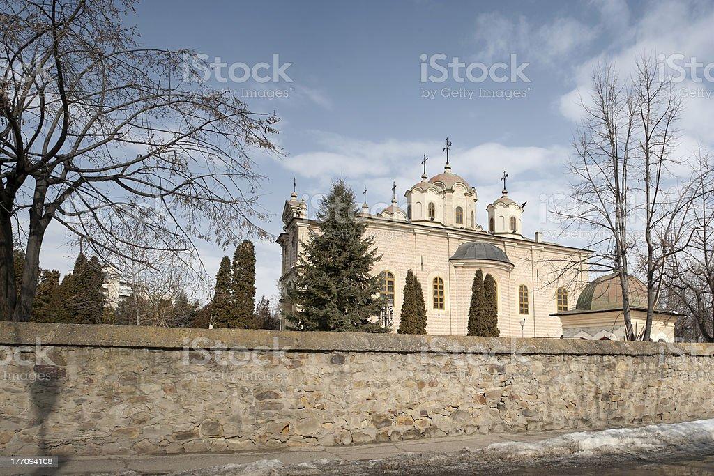Barboi orthodox church from Iasi, Romania stock photo