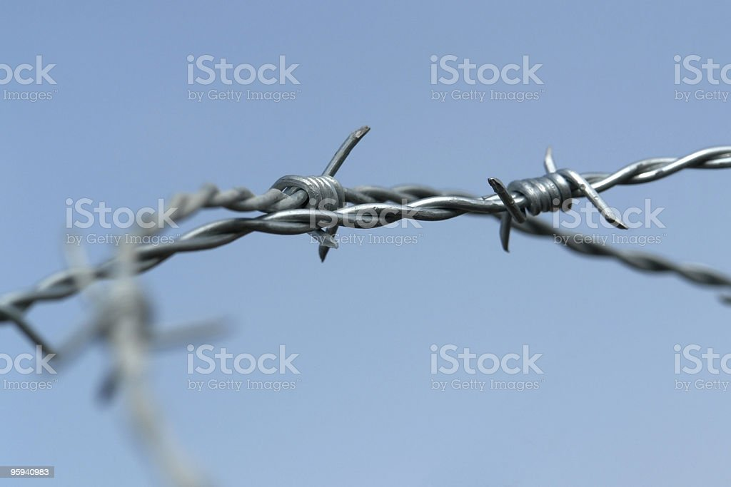 barbwire detail royalty-free stock photo
