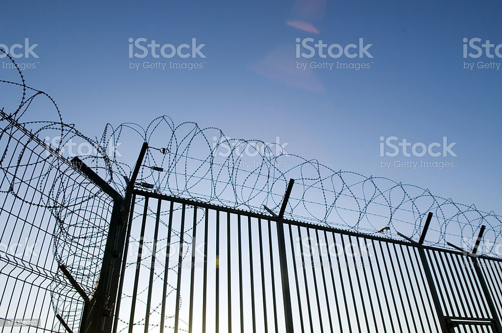 Barbwire royalty-free stock photo