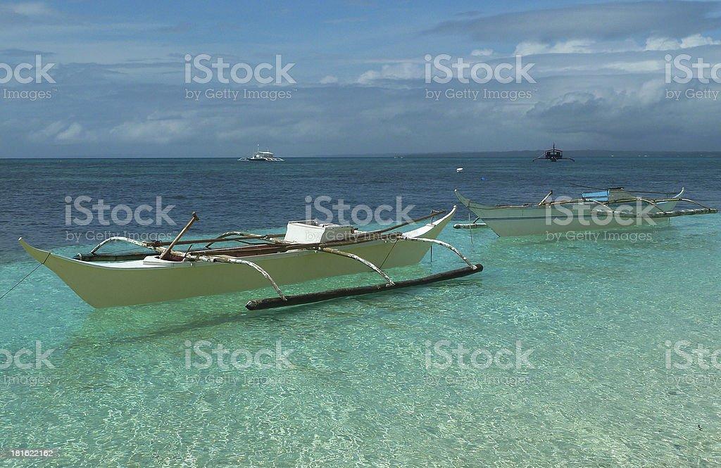 Barca filipina stock photo