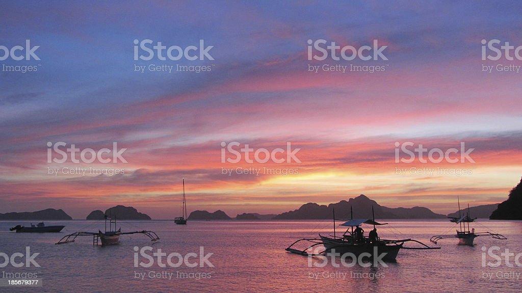 Barcas descansado stock photo