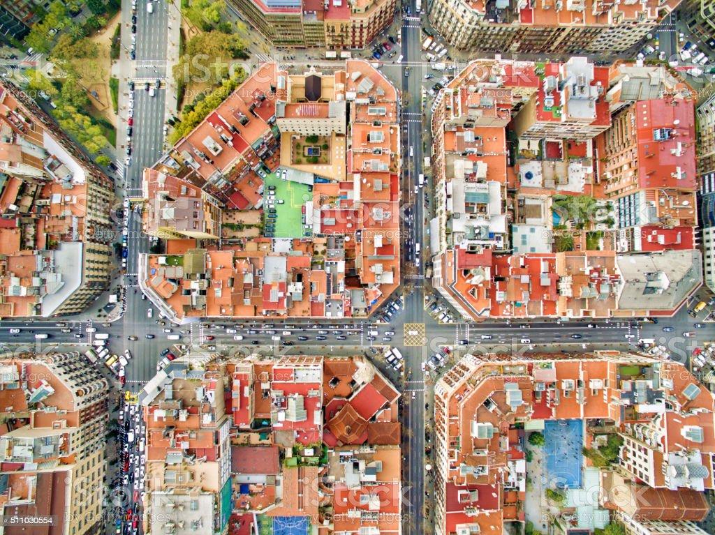 Barcelona aerial photo stock photo