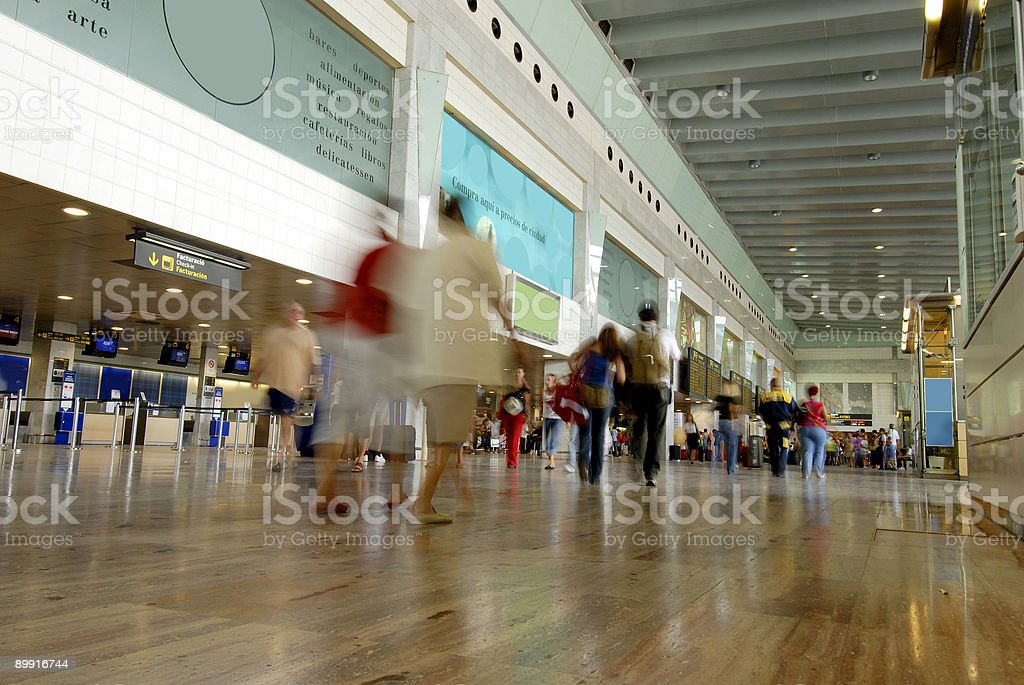 barcelona airport royalty-free stock photo