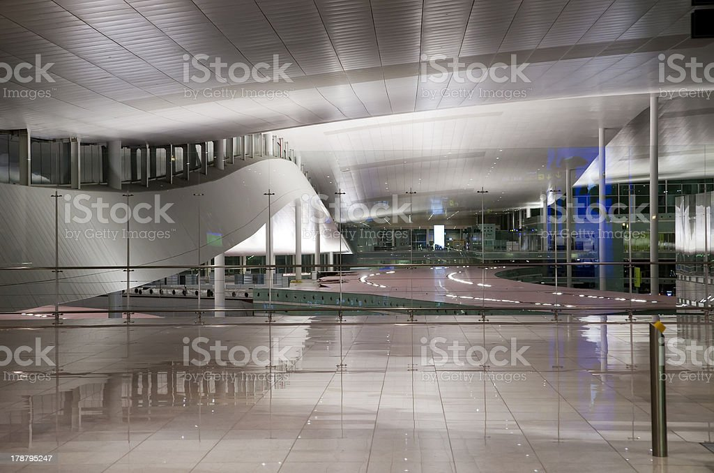 Barcelona airport, Spain royalty-free stock photo