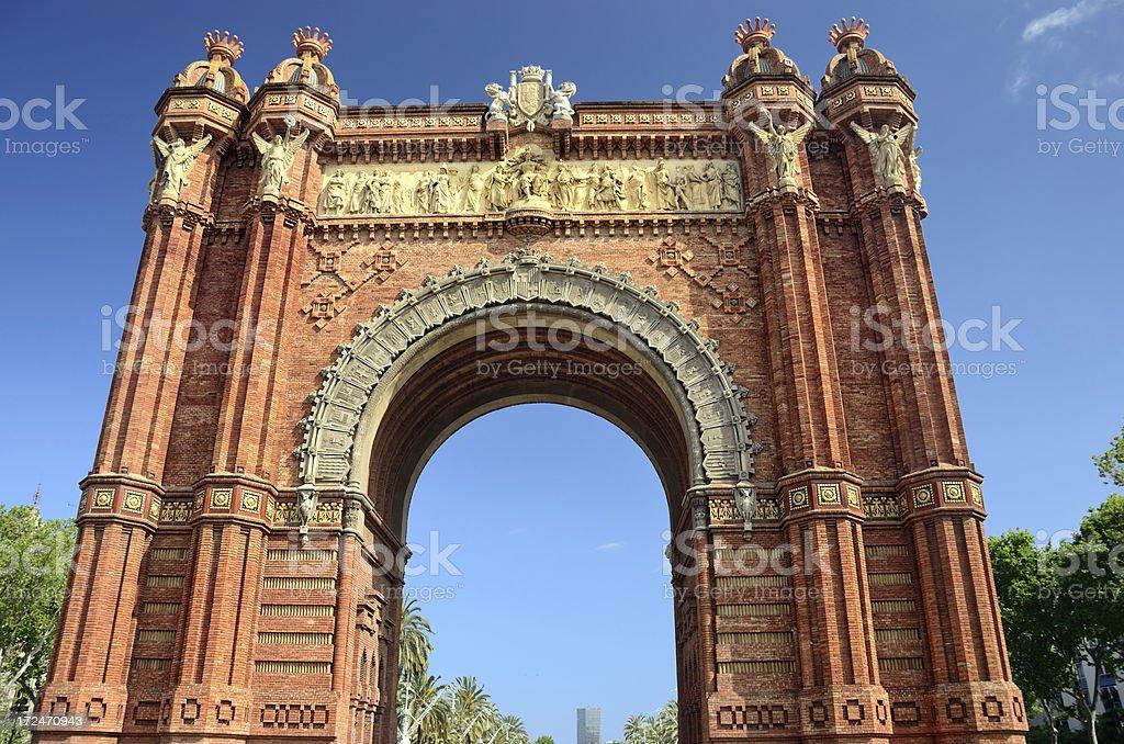Barcelona Arc de Triomf royalty-free stock photo