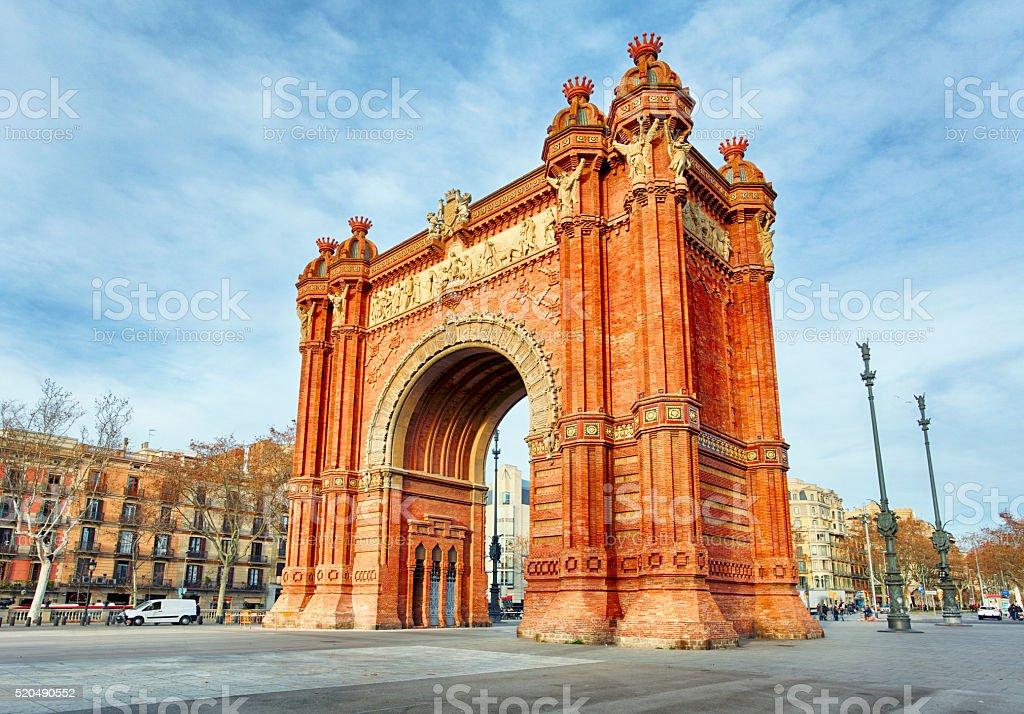 Barcelona, Arc de Triomph, Spain stock photo