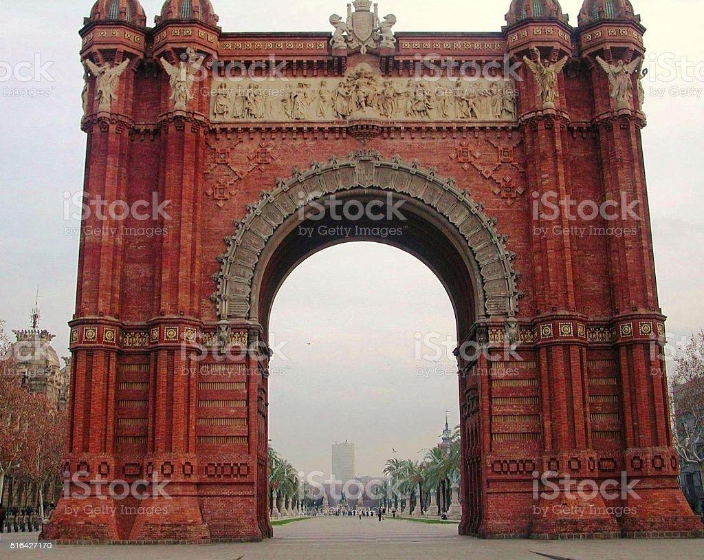 Barcellona – Arco di Trionfo stock photo