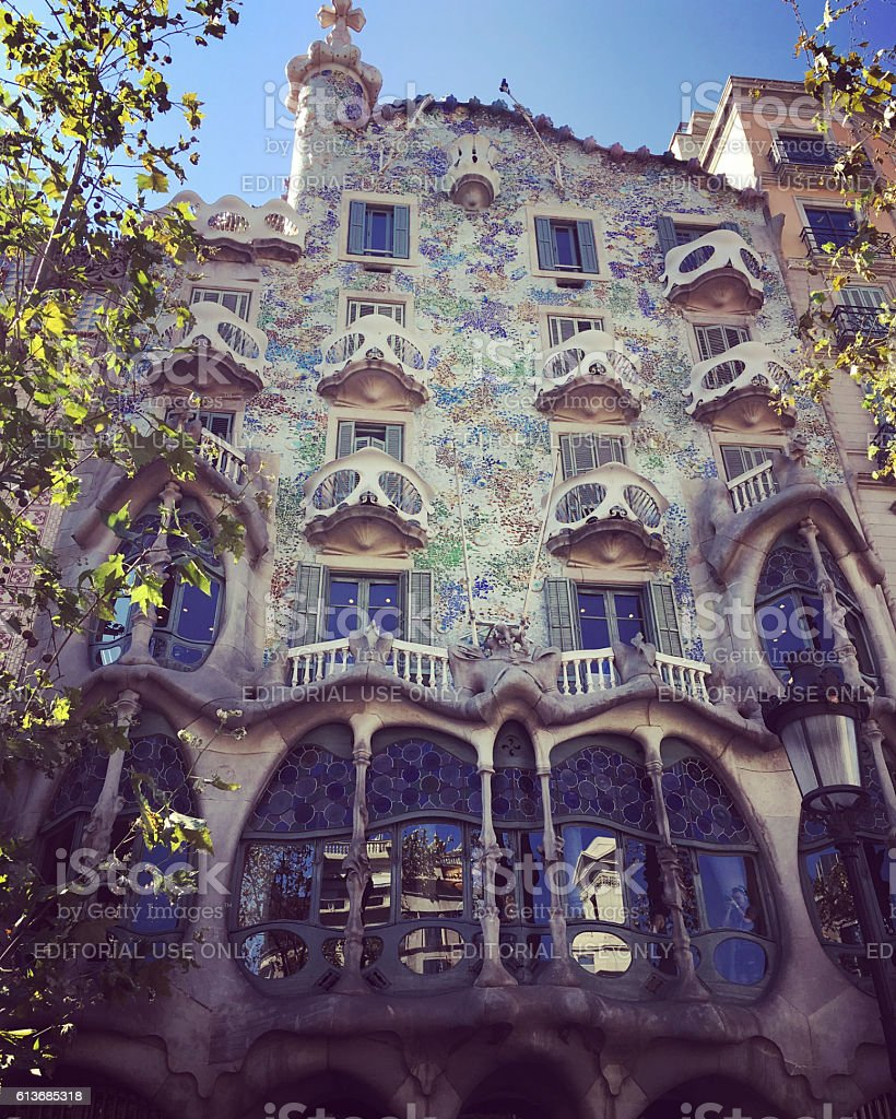 Barcelona Architecture, Casa Batilo stock photo