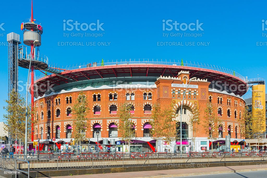 Barcelona Arenas Bullring Shopping Mall stock photo