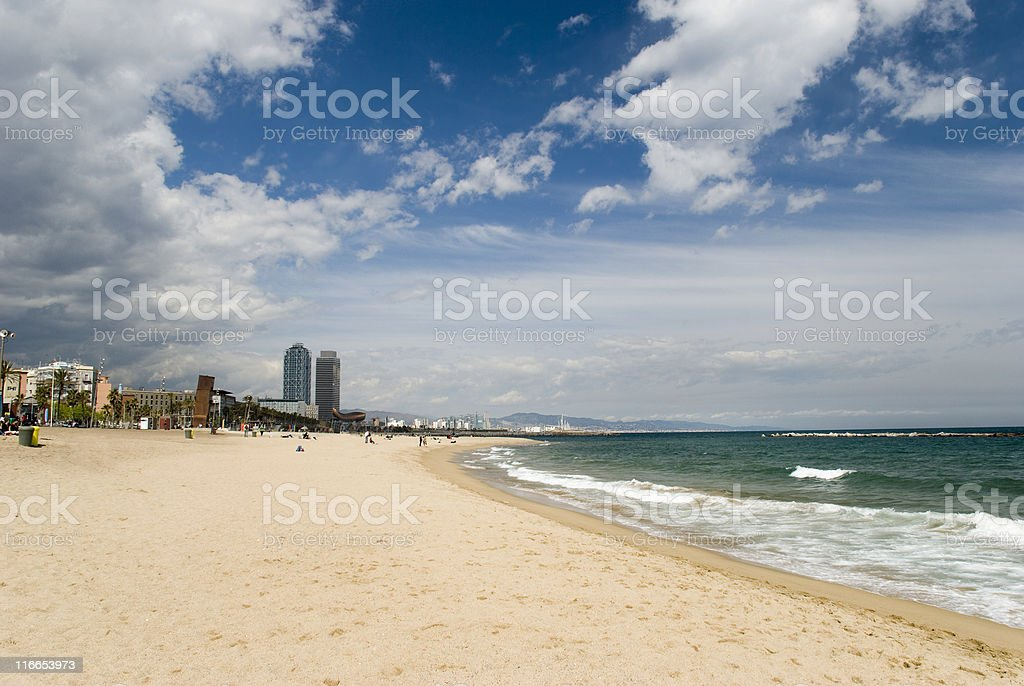 Barcelona Beach royalty-free stock photo