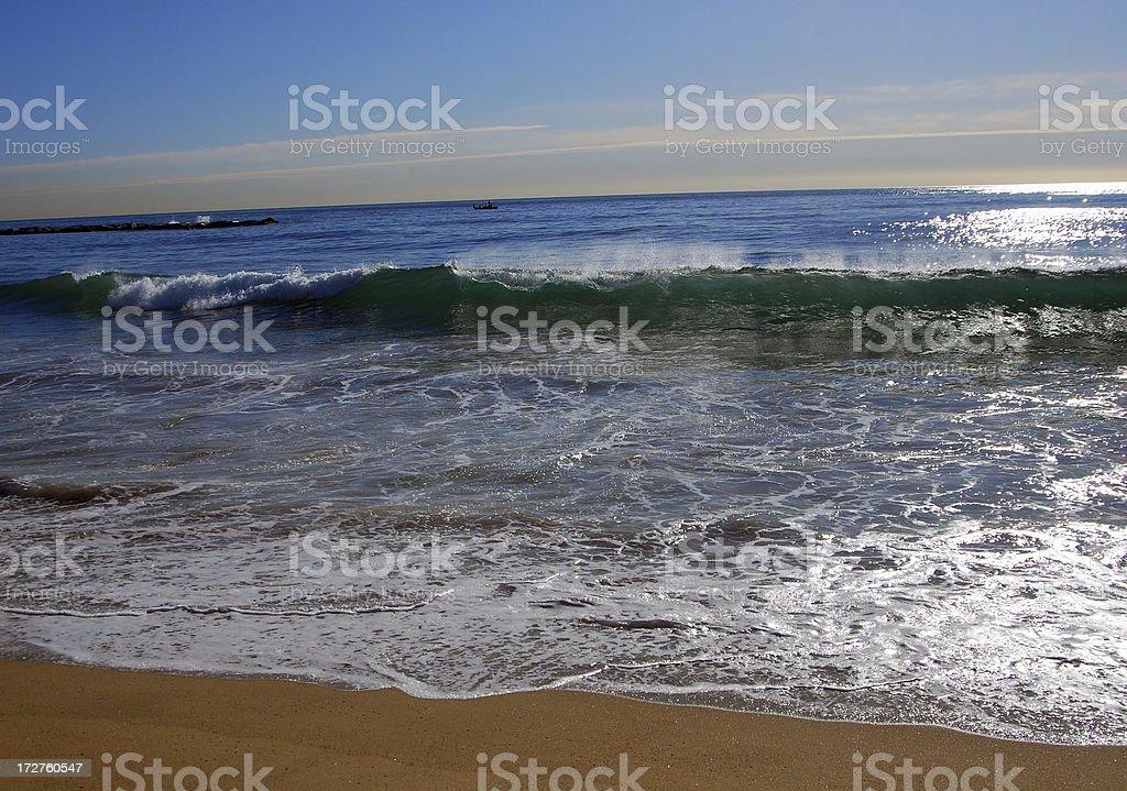 Barcelona Beach royalty-free stock photo