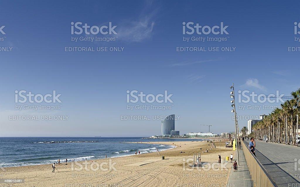 Barcelona beach, Spain royalty-free stock photo