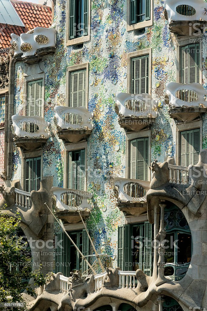 Barcelona (Spain): building of Passeig de Gracia stock photo