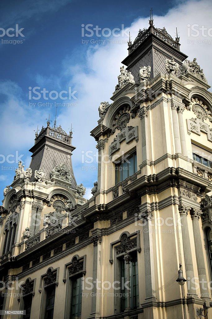 barcelona building stock photo