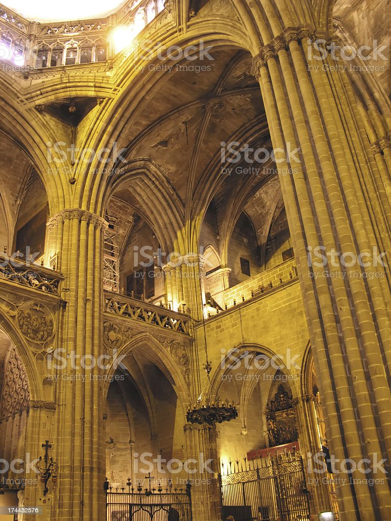 Barcelona cathedral royalty-free stock photo