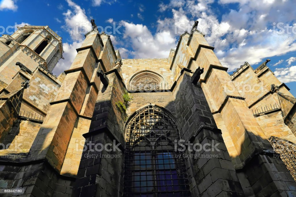 Barcelona Central Cathedral stock photo