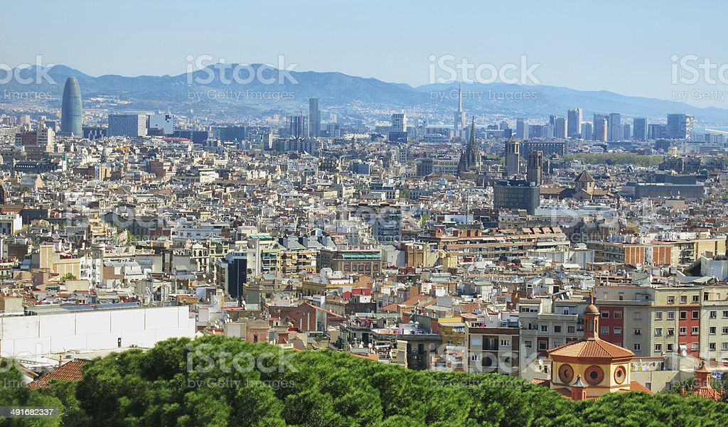 Barcelona cityscape stock photo