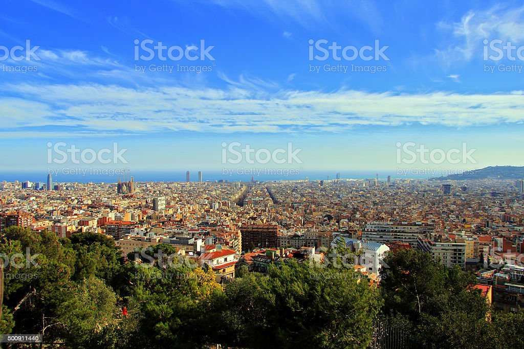 Barcelona Cityscape royalty-free stock photo