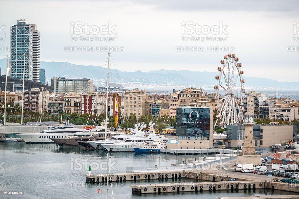 Barcelona cityscape, Spain stock photo