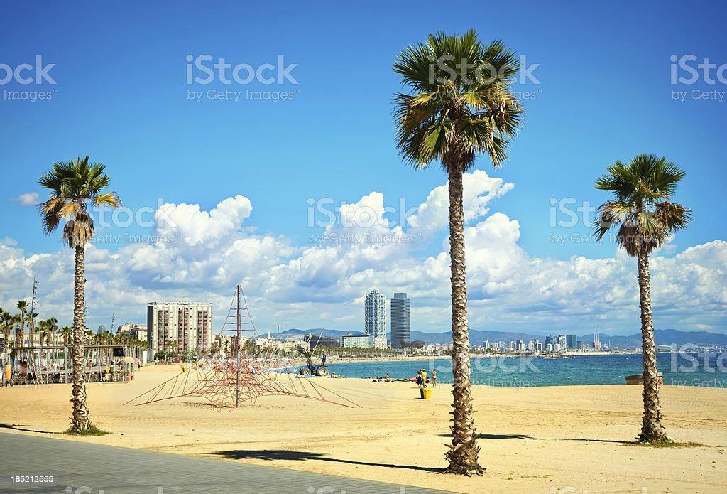 Barcelona Coastline royalty-free stock photo