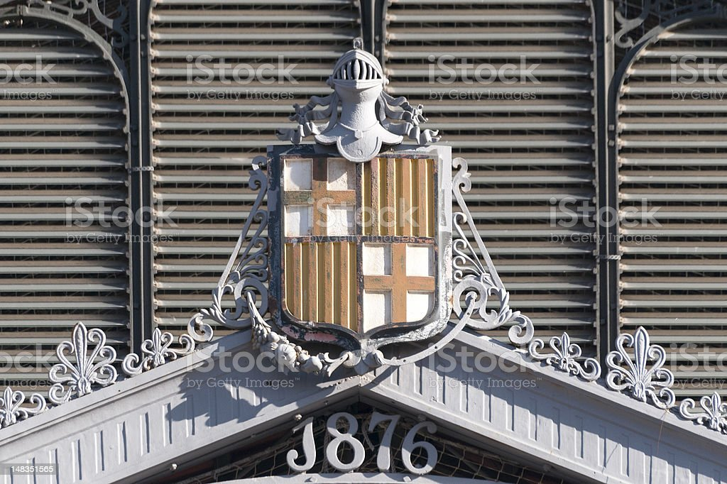 Barcelona Coat of Arms stock photo