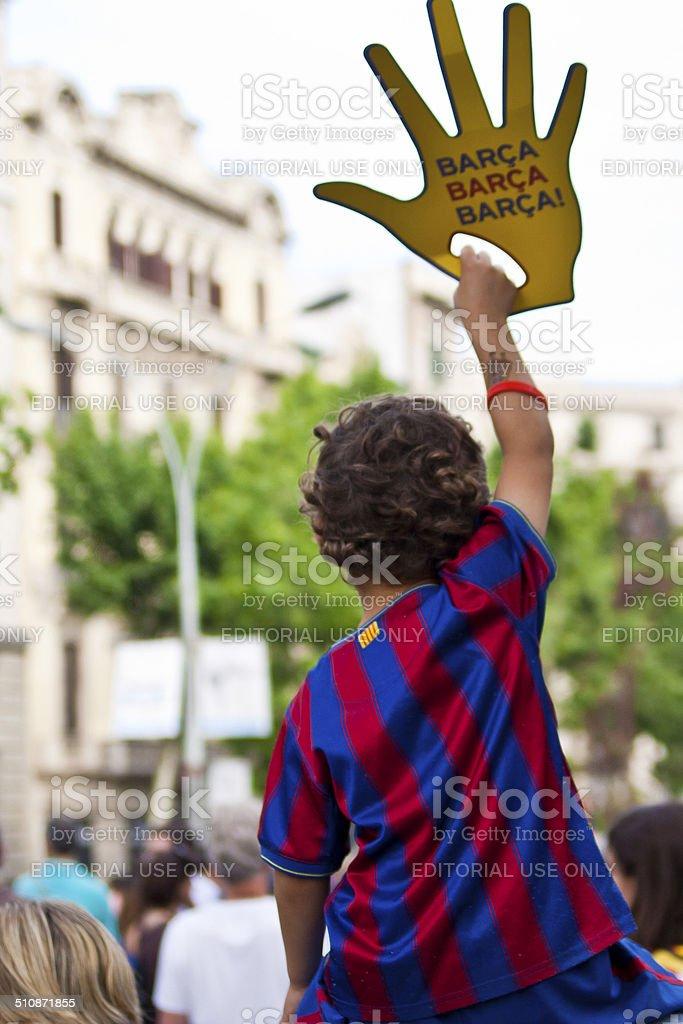 Барселона Fan Стоковые фото Стоковая фотография