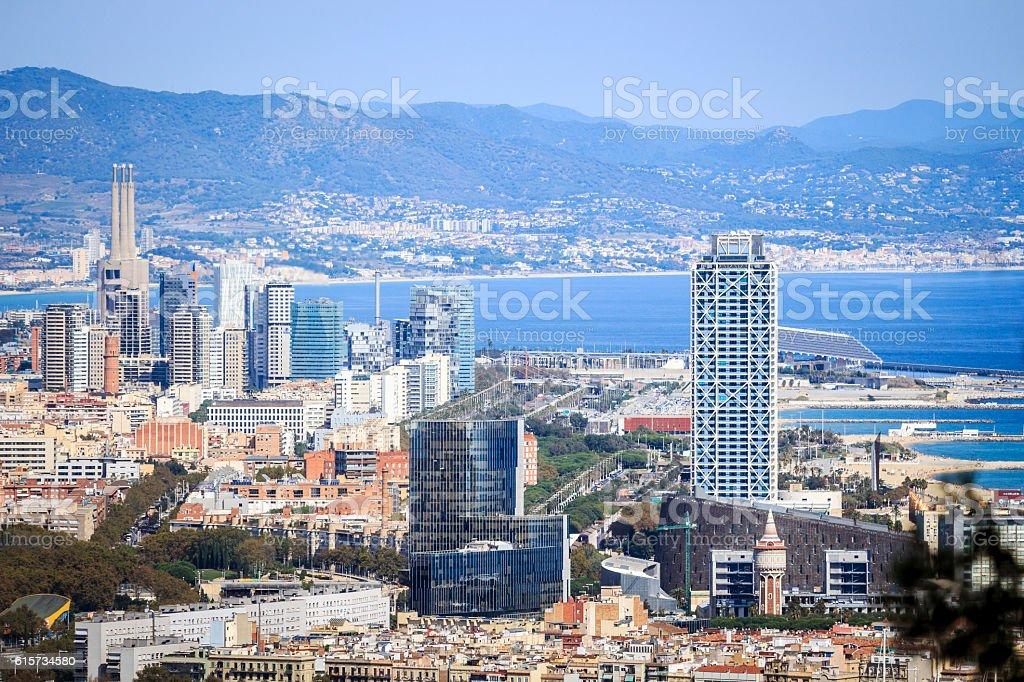 Barcelona financial and university center, Spain stock photo