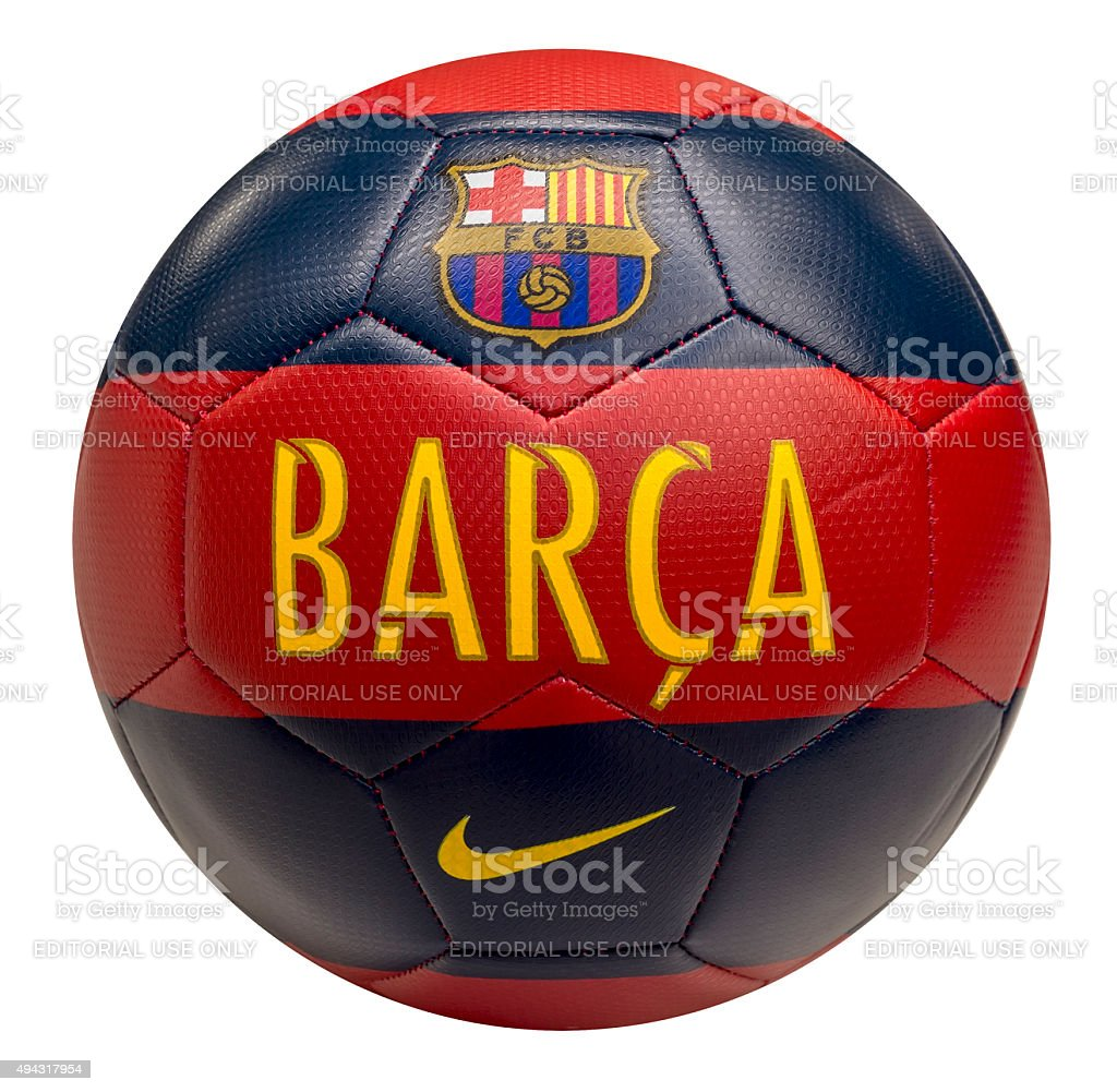 FC Barcelona football ball stock photo