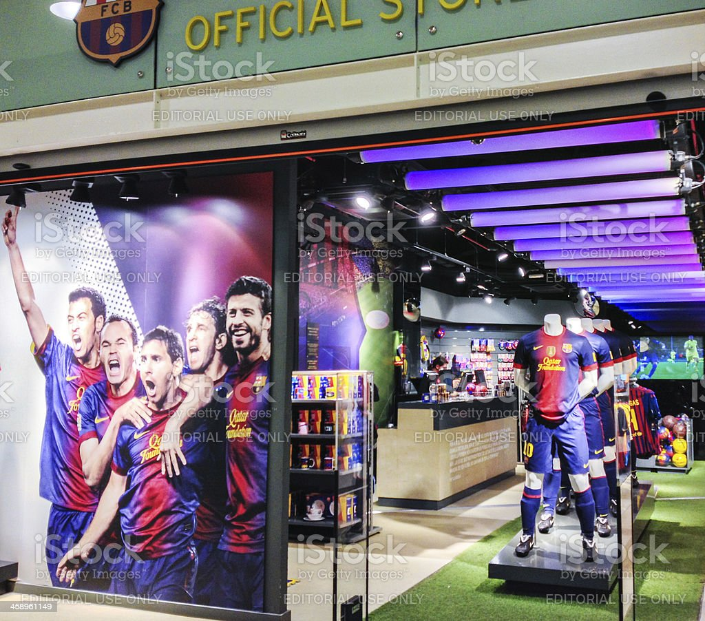 'Barcelona Football Club Official Fan Store, Spain' stock photo