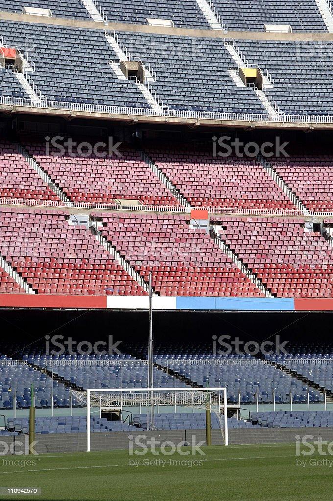 Barcelona football stadium Nou Camp royalty-free stock photo