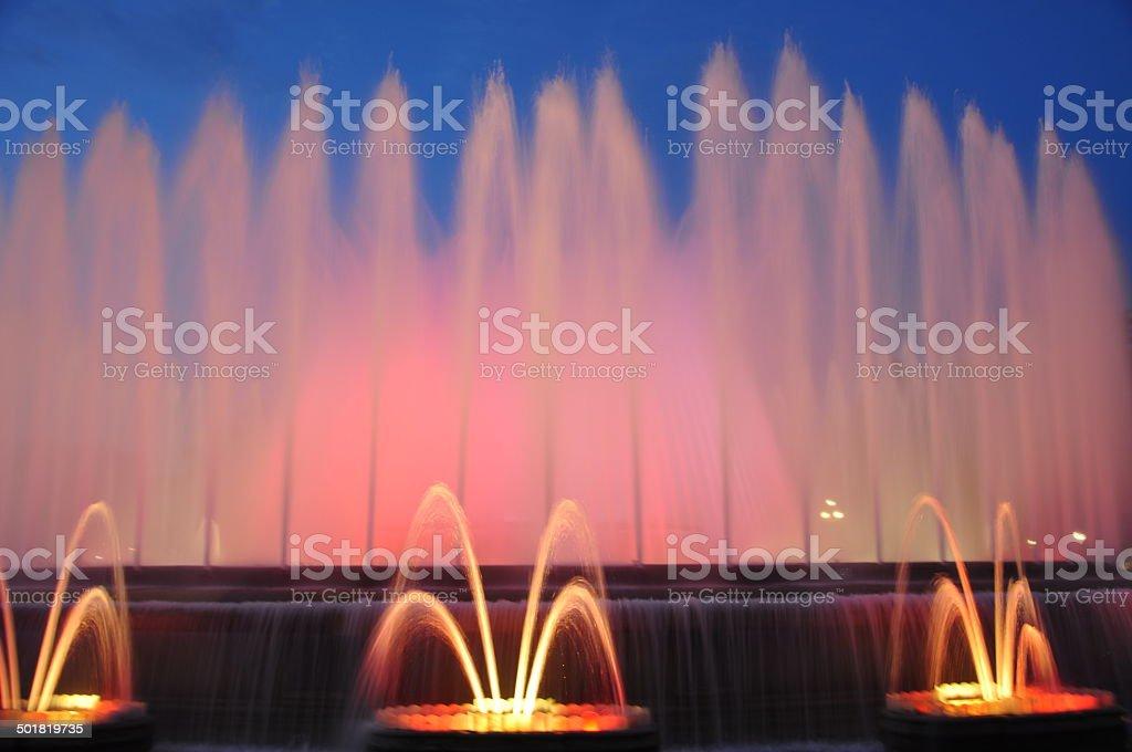 Barcelona Fountain stock photo