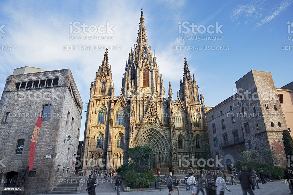 Barcelona gothic Cathedral stock photo