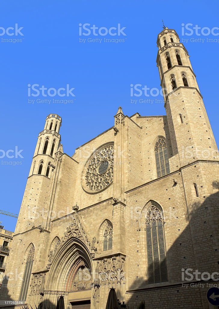 Barcelona - gothic cathedral Santa Maria del mar stock photo