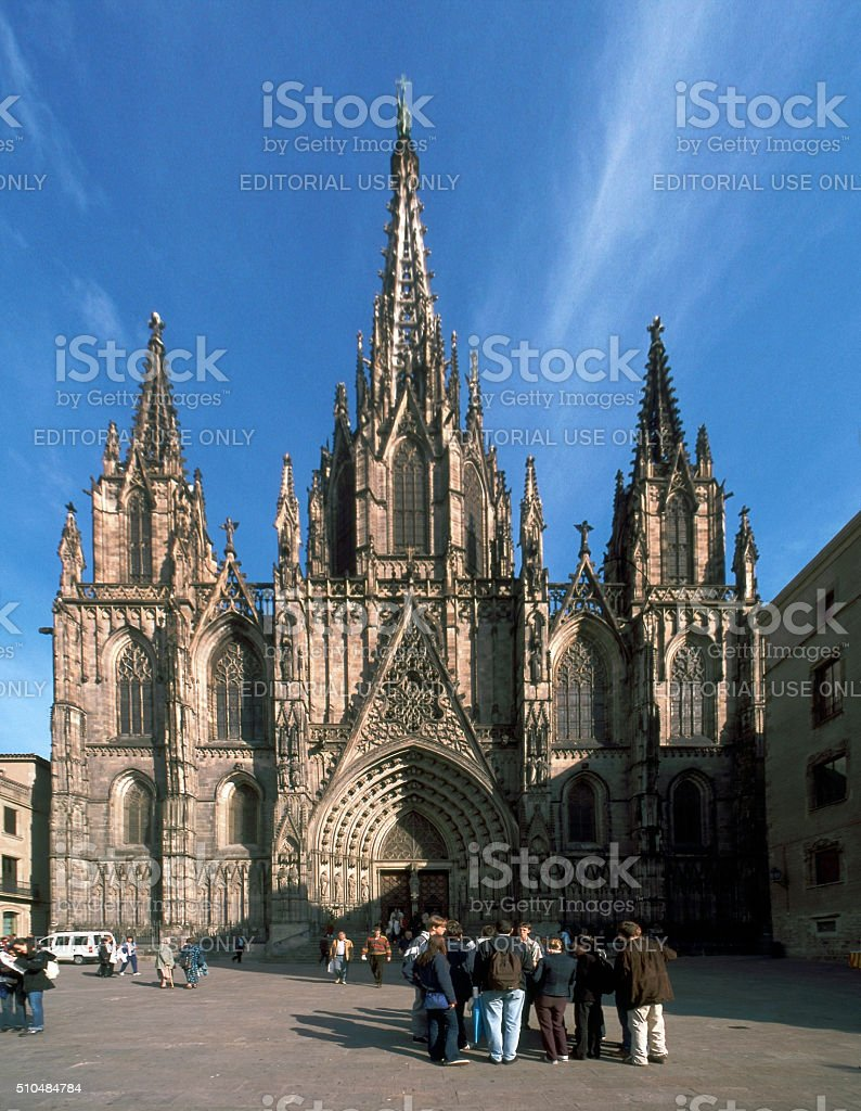 Barcelona gothic cathedral Spain stock photo