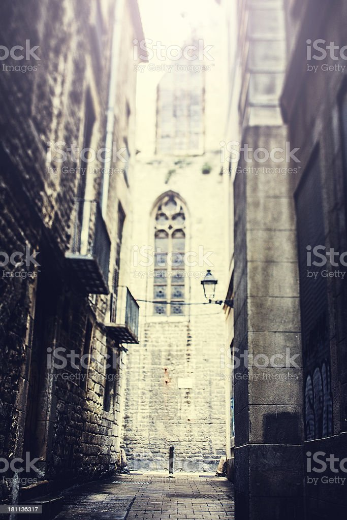 Barcelona Gothic Distric Cathedral royalty-free stock photo