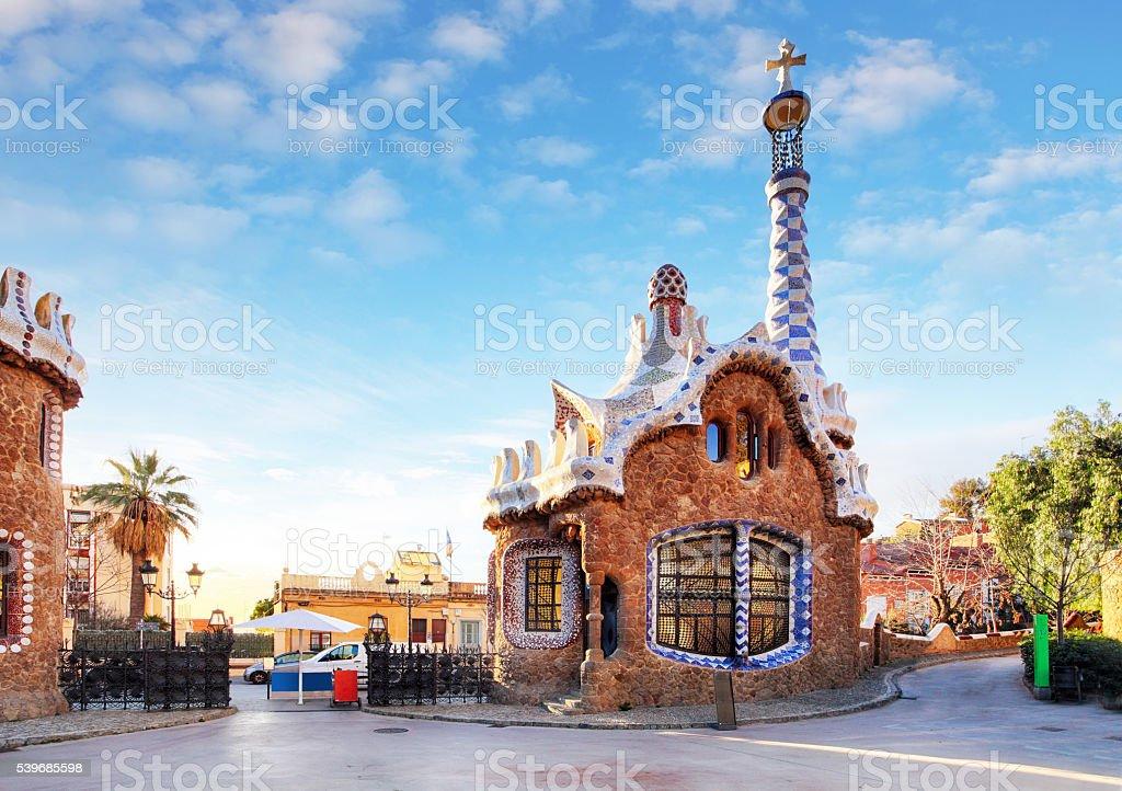 Barcelona, Guell Park, Spain stock photo