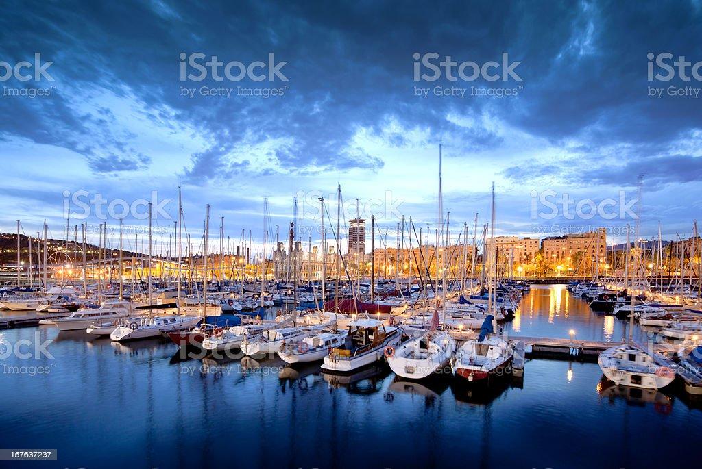 Barcelona Harbor royalty-free stock photo