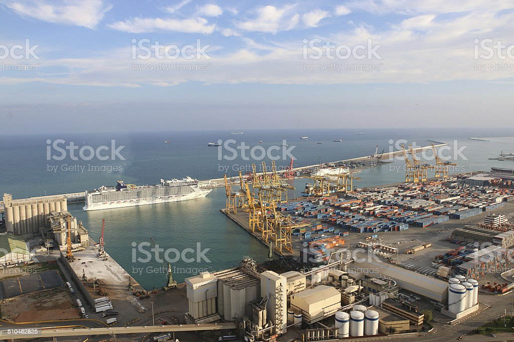 Barcelona harbour royalty-free stock photo