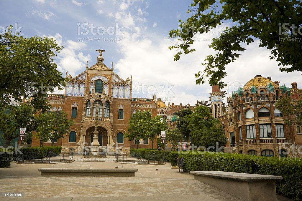 Barcelona Hospital royalty-free stock photo