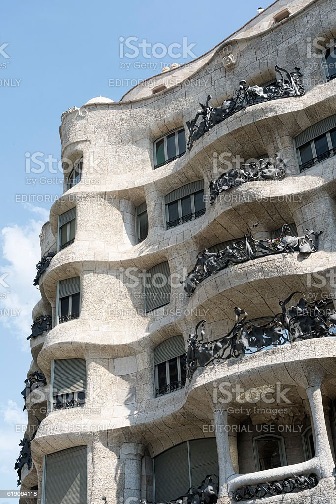 Barcelona (Spain): la Pedrera stock photo