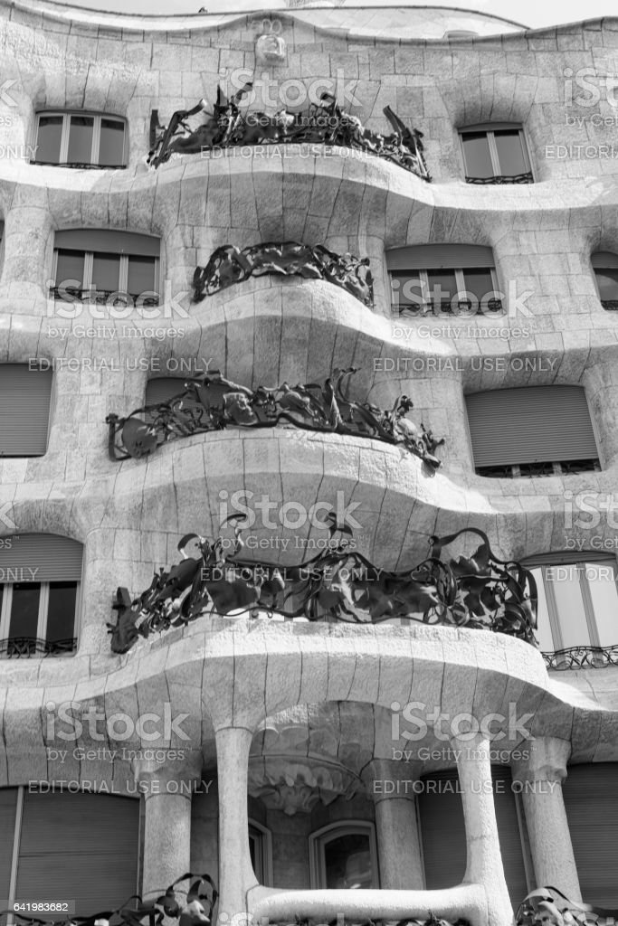 Barcelona (Spain): la Pedrera stock photo
