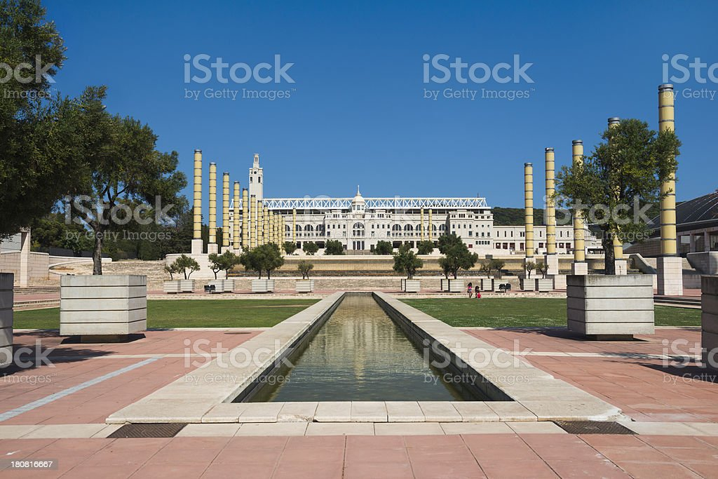Barcelona Landmark Park stock photo