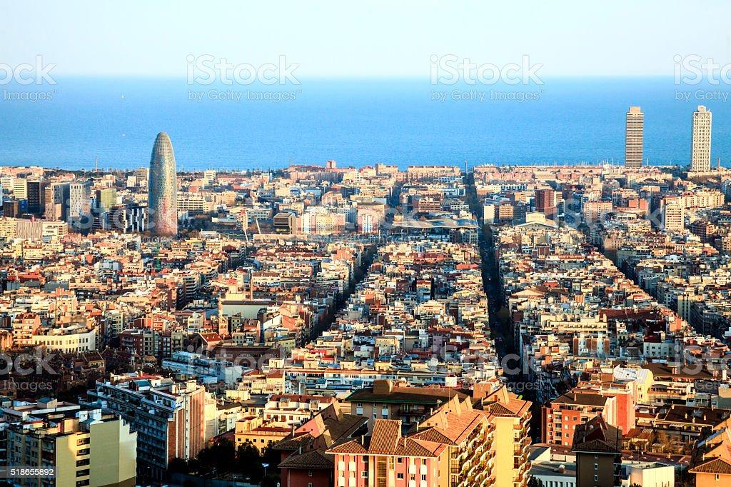 Barcelona landscape stock photo
