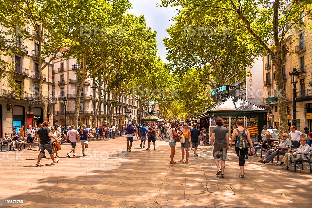 Barcelona Las Ramblas stock photo