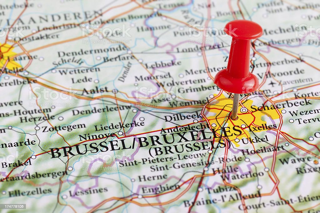 'Barcelona Map, Spain - Europe' stock photo