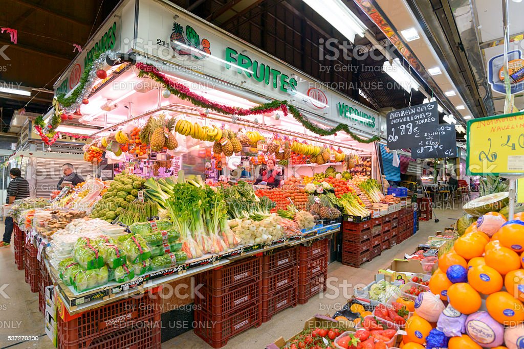 Barcelona Market stock photo